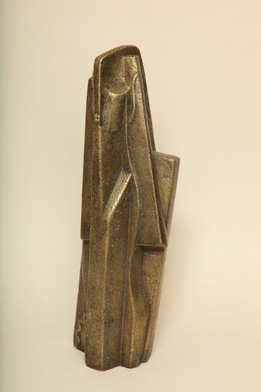 """Femme"" Bronze Sculpture with Gold Patina By Joseph Csaky"