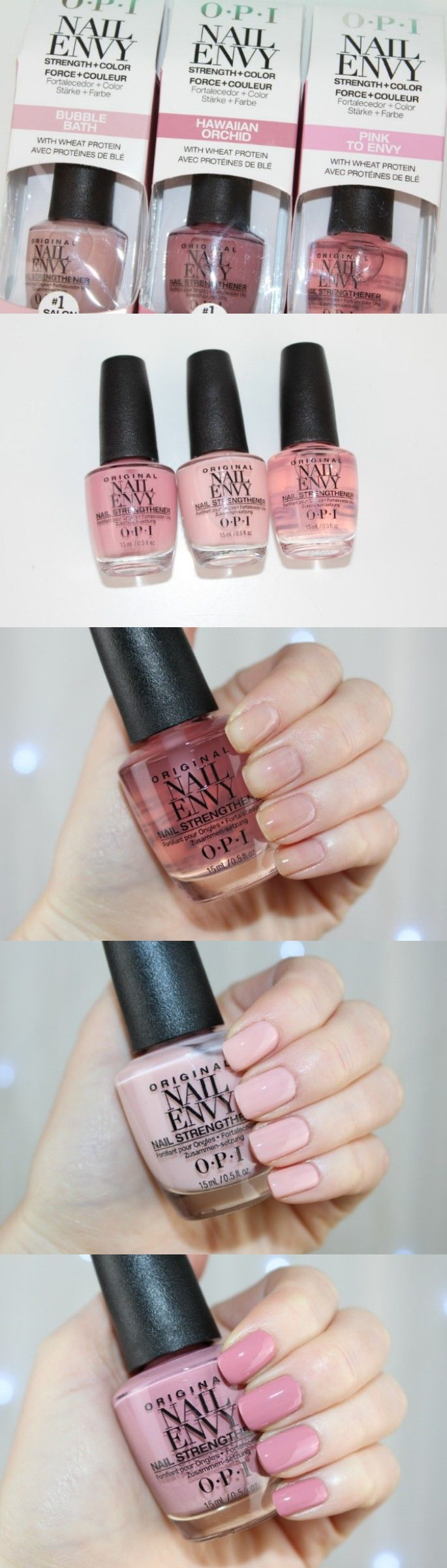 O.P.I Nail Envy Strength and Color - http://pinkparadisebeauty.blogspot.co.uk/2015/12/opi-nail-envy-strength-color-review-and.html