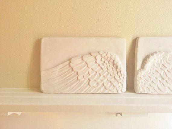 My angel's wings... Angel Wings Angel Art Memorial Plaque Wall by RedwoodStoneworks, $42.00