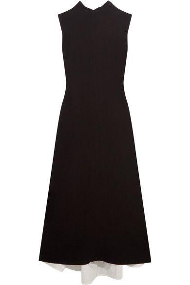 Marni - Open-back Crepe Midi Dress - Black - IT