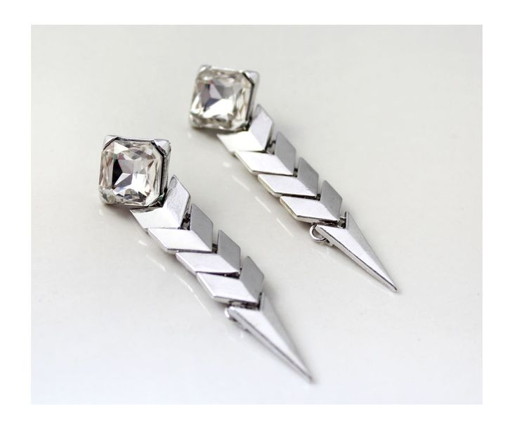 Hypoallergenic Silver Sparkle Long Earrings 3335 - Korean | Japanese | American Fashion Online Store<br />WORLDWIDEfree shipping $3.99