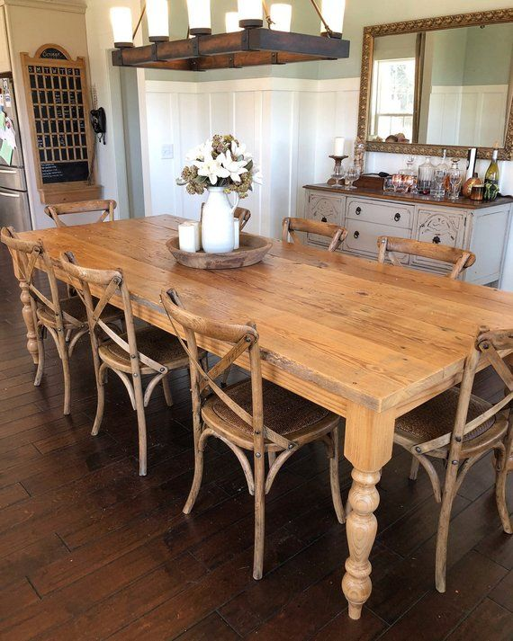 Distressed Reclaimed Farmhouse Dining Table Farmhouse Dining