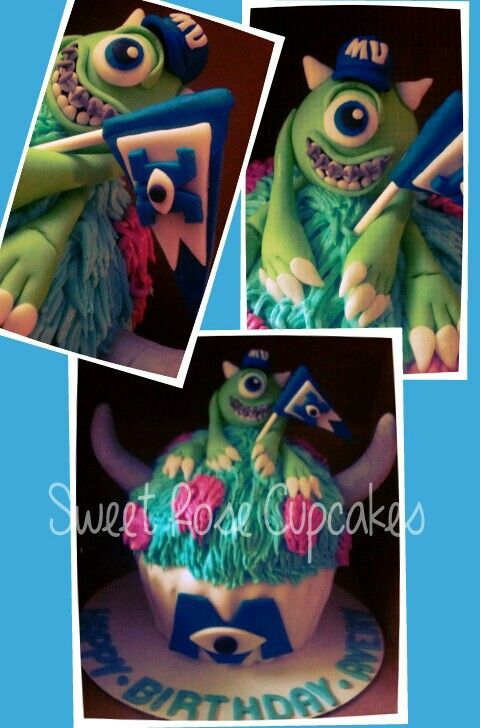 Monster's university giant cupcake