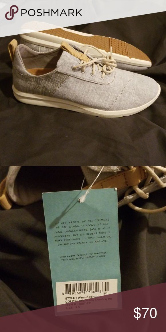 b6f8c63ea6c I have too many grey shoes Tom s women s Cabrillo drizzle grey chambray mix  size 9.5 brand new with tag still attached Toms Shoes Sne…