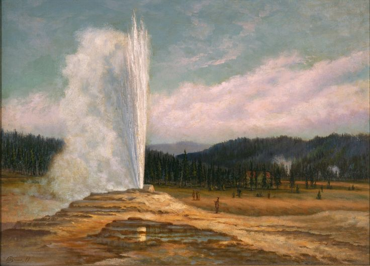 Grafton Tyler Brown (1841-1918)  Old Faithful Geyser, Yellowstone National Park, 1887, Oil on canvas, 22 x 30 inches