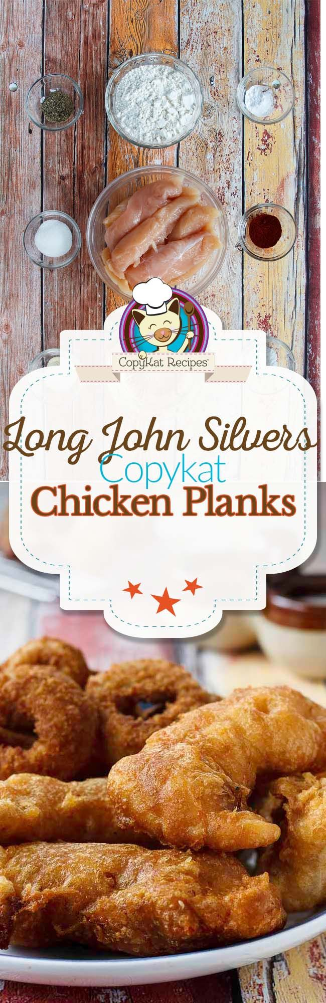 Make your own homemade Long John Silvers Chicken Planks with this easy copycat recipe.