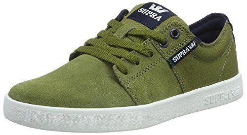 Supra STACKS II, Unisex-Erwachsene Sneakers, Grün (OLIVE/NAVY - WHITE OLN), 42.5 EU (8 Erwachsene UK) - http://on-line-kaufen.de/supra/42-5-eu-supra-stacks-ii-unisex-erwachsene-sneakers-11