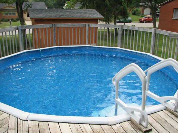 backyard designs with pools and deck | above-ground-pool-deck2