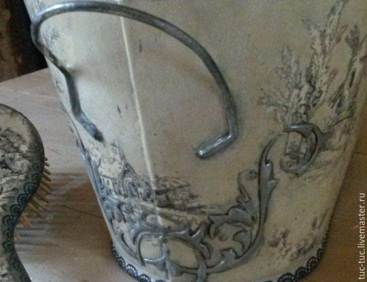 """Купить Набор """"Пастораль"""" - набор для ванной, расческа деревянная, ушатик, кашпо, кашпо для цветов"""