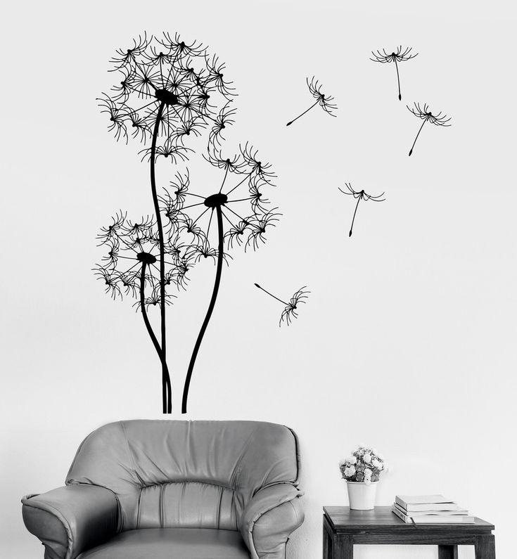 Vinyl Wall Decal Dandelion Flower Floral Room Decoration Stickers Mural (ig3356)