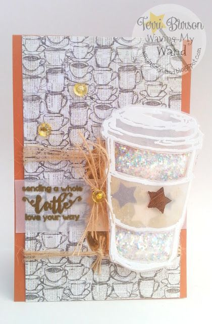 waving my wand latte love card with wrmk fuse and stamplorations