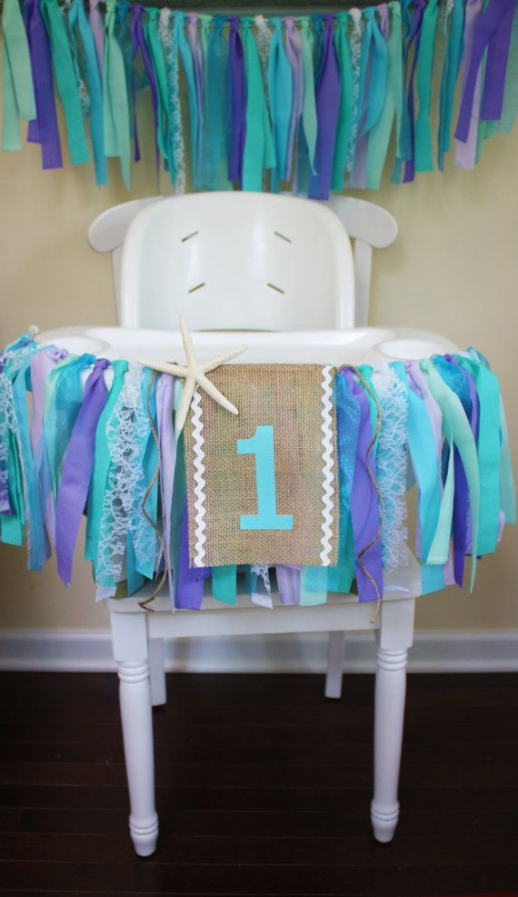 Under the Sea Highchair Banner, Mermaid Party, 1st Birthday Banner, Frozen Party, Elsa and Anna, High Chair Sign by MyLittleBoobug