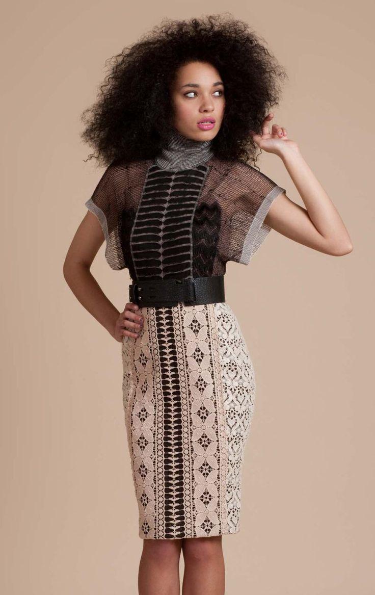 I like funky, flirty, structured dresses.
