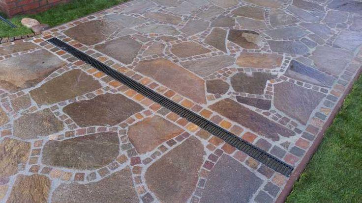 Polygonalplatten Porphyr - Rot Braun