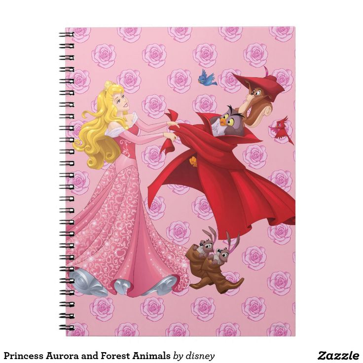 Princess Aurora and Forest Animals. Regalos, Gifts. #notebook #cuaderno