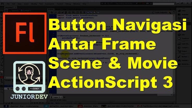 Membuat Tombol Navigasi Antar Frame dan Scene | Tutorial Adobe Flash (pa...