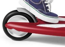 Hi! If you want to buy your child a Scooter, you MUST teach him to use the brake. I invite you to read http://wheelsandkids.com/scooters-for-kids to see How to Choose the right Scooters for Kids. Thanks!