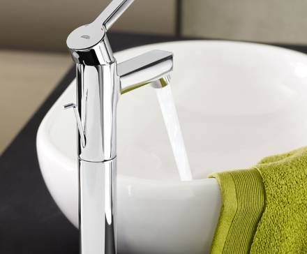 Photo Gallery For Website Grohe Lineare Basin Mixer with sculptural sink