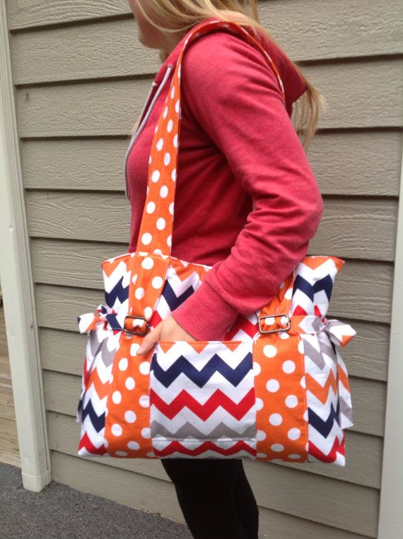 Emily...this is cute!!  Chevron Diaper Bag by MOMnI on Etsy, $60.00