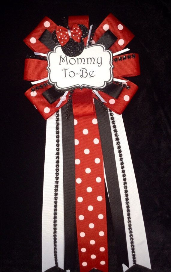 Minni mouse baby shower mum by CutestFavors on Etsy