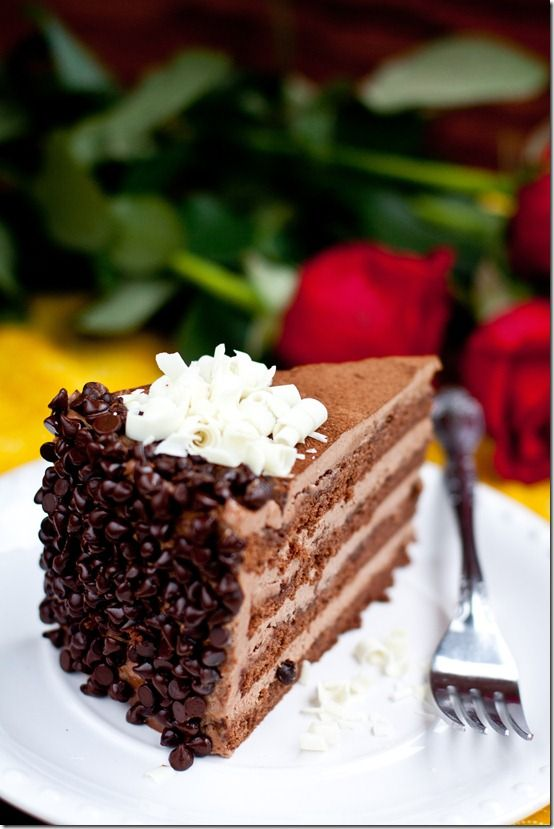 Tender Chocolate Cake, with lusciously creamy Russian Chocolate Buttercream. One of the best chocolate cakes you will ever have! By LettheBakingBegin.com @LettheBakingBegin