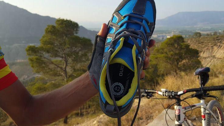 Review zapatillas MTB Shimano MT34 cómo atar cordoneras y zapatillas viejas