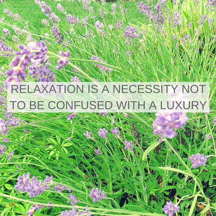 Why is it so hard to relax?
