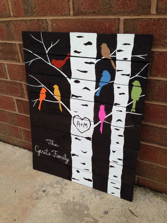 Family Tree pallet art made to order by LucysLikeables on Etsy