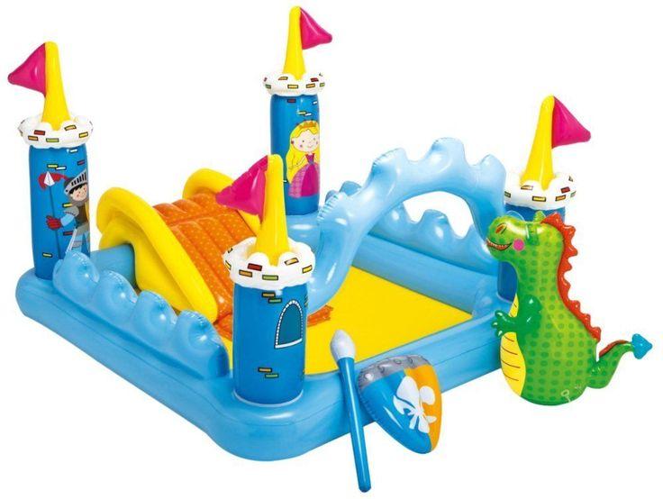 Slide Water Inflatable Pool Park Backyard Kids House Bounce Splash Outdoor Pad #INTEX