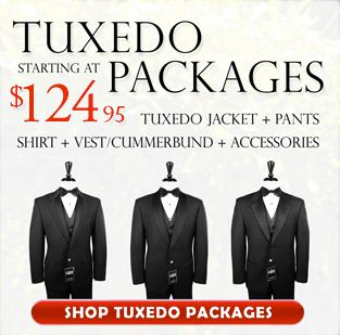 Need a Tuxedo? Tuxedo Packages starting at only $124.95, check this out... http://www.buy4lesstuxedo.com/