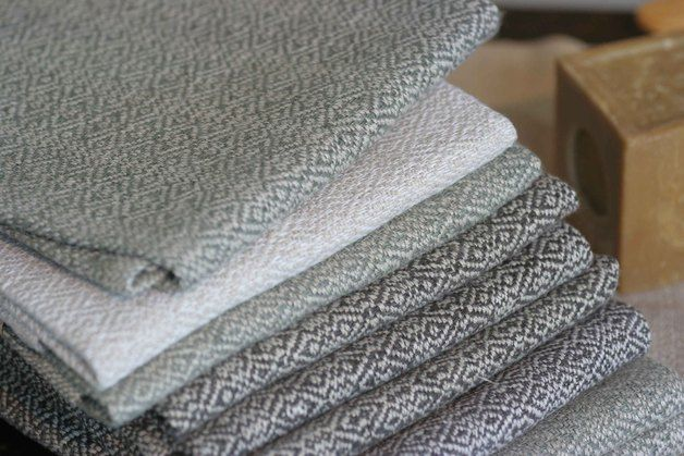 """Towels – Towel hand-woven from 100% linen, """"off-white"""" – a designer … #Schusse # Wefts"""