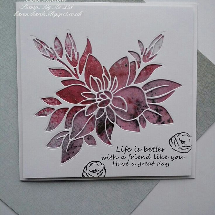Paper Piece dies from Stamps By Me  #stampsbyme #dtsample #paperpiecedie #die #aperture #pixiepowders #flowers #card #creative #craft #ilovetocraft #creativity #karenzkardz