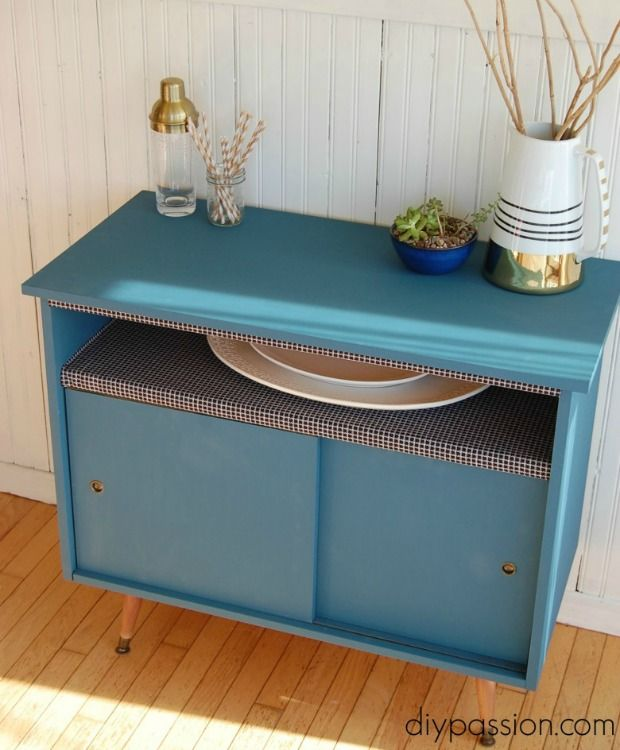 Buffet Table Makeover - Midcentury Furniture Before and After - Good Housekeeping