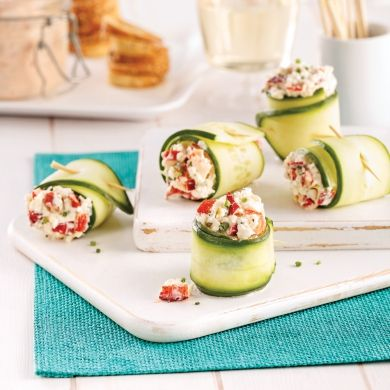Roulés de concombre au homard - Recettes - Cuisine et nutrition - Pratico Pratique