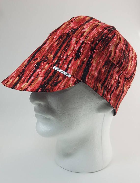 Jimmy Caps Welding Hats on Etsy Red Cosmic Rain Custom Welders Hat Fitters Cap