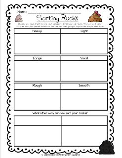 "FREE Rock Sorting and Soil Samples Station Sheets!  Lots more available in our ""Rock""in' It in K Unit!"