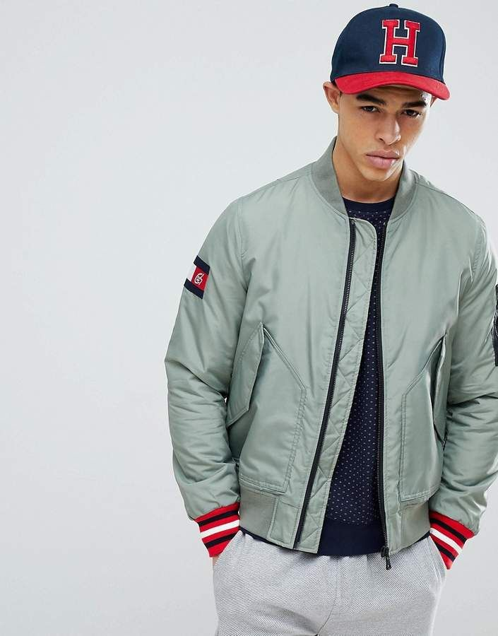 b3a459cc Tommy Hilfiger Chainsmokers Bomber Jacket Green Bomber Jacket,  Chainsmokers, Tommy Shop, Men's Jackets
