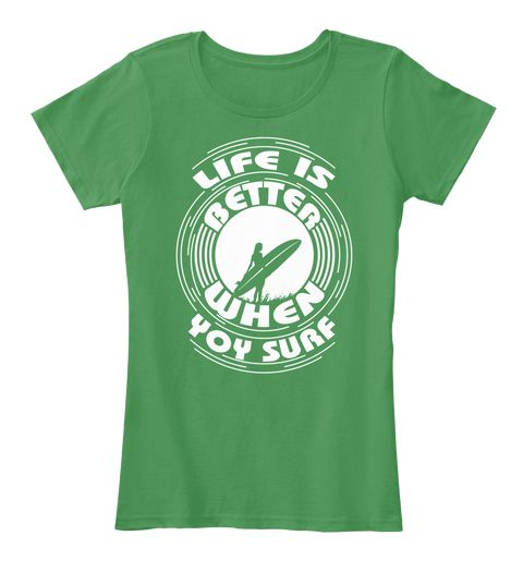 This Is Our T Shirt About Surfing Sports Kelly Green  Women's T-Shirt Front