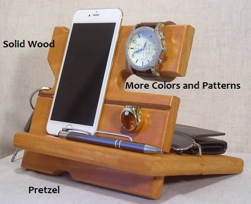 Wood Docking Station Wooden Cell Phone Dock Charging