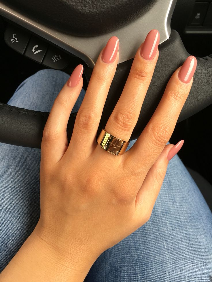Blush Pink Oval Nails