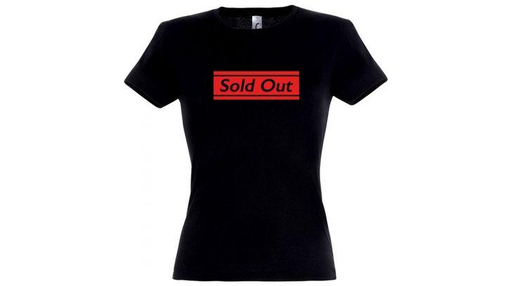 Sold out póló lánybúcsúra fekete színben