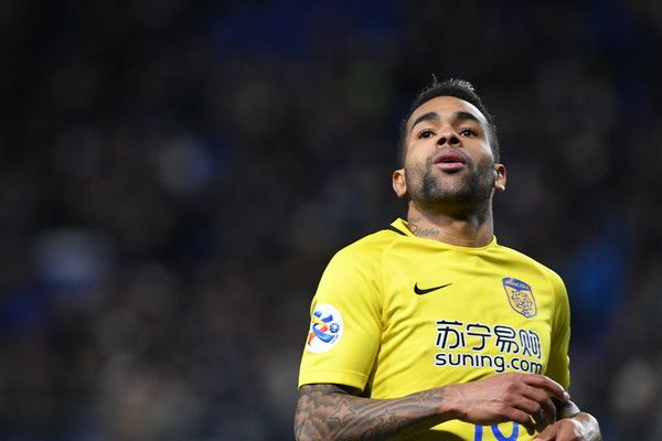 Alex Teixeira of Jiangsu FC looks on during the AFC Champions League Group H match between Gamba Osaka and Jiangsu FC at Suita City Football Stadium on March 15, 2017 in Suita, Japan.