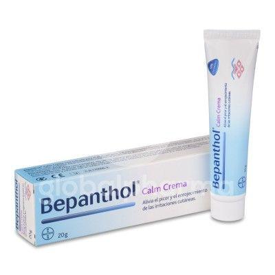 Bepanthol Calm Crema, 20g Crema sin cortisona, ni perfumes, ni conservantes o emulgentes irritantes, que alivia el picor y el enrojecimiento producido por dermatitis atópica, eccemas, reacciones alérgicas o piel seca. Laboratorio bayer