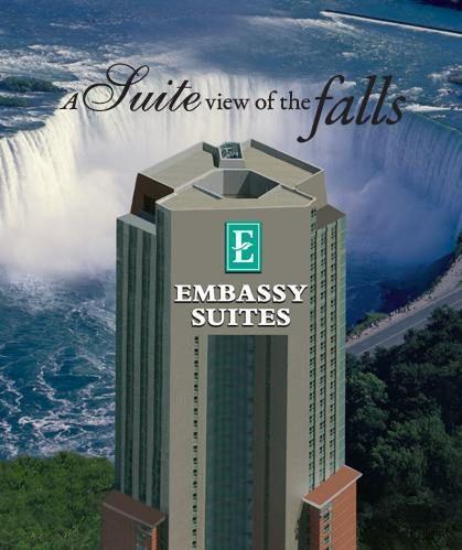 Beautiful view of Niagara Falls from the falls side rooms. Located in Niagara Falls Ontario, Canada.