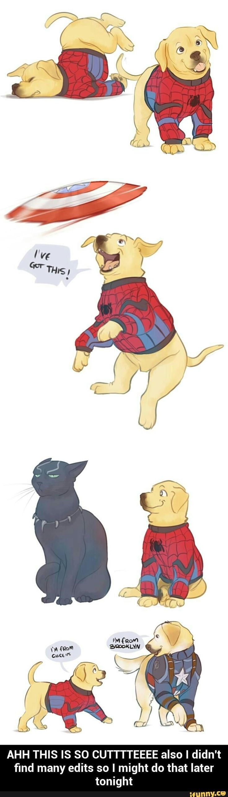 Ok this is legit cute. Tom Holland's spidey is growing on me. God I never thought I'd say THAT