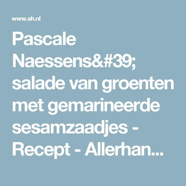 Pascale naessens' salade van groenten met gemarineerde