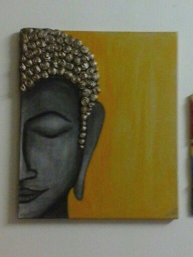 Buddhas hand made painting on canvas