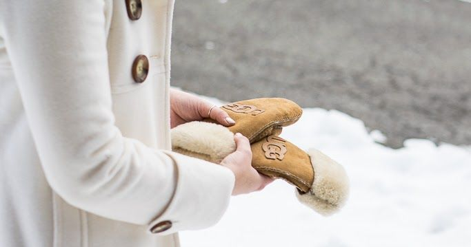 UGG Mittens // UGG Mini Boots // White Peacoat (Similar) // White Turtleneck Sweater     I wore this outfit las...