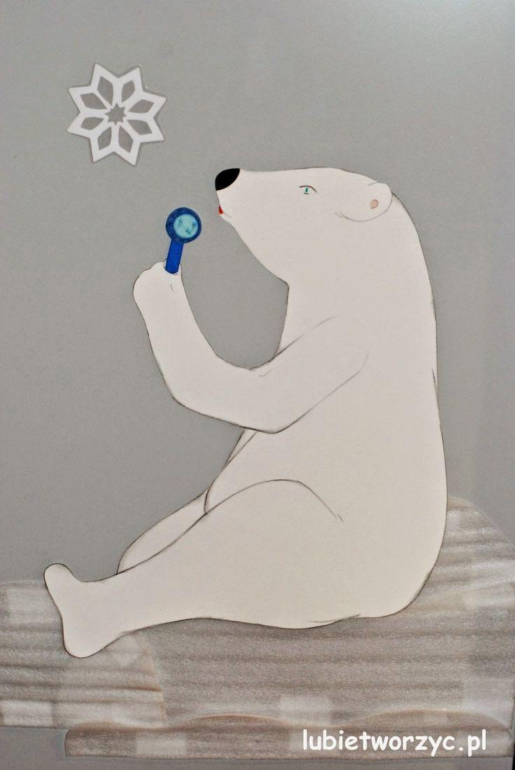 Niedźwiedź polarny - dekoracja kuchennych drzwi   #lubietworzyc #DIY #handmade #howto #preschool #kindergarten #instruction #instrukcja #jakzrobic #krokpokroku #przedszkole #dekoracje #decorations #polarbear #niedzwiedzpolarny #christmas
