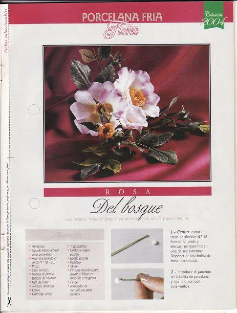Todo Flores de Porcelana Fria: Rosa del bosque paso a paso en Porcelana fria